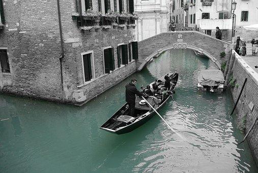 Venice, Vaporetto, Lagoon, City, Italy, November