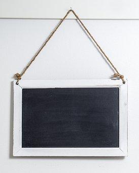 Blackboard, Board, Chalk, Frame, Line, Rope, Old, Retro
