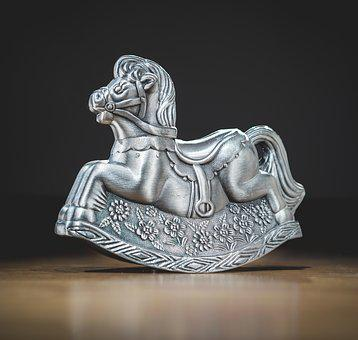Horse, Ornament, Product, Goods, Object, Metal, Shiny