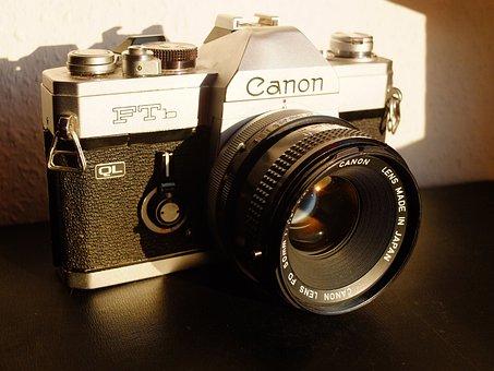 Canon, Analog, Camera, Lens, Photography, Photograph