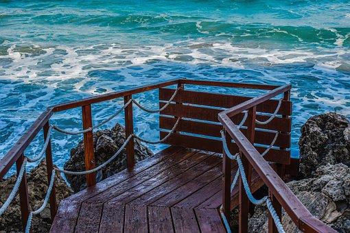 Cyprus, Konnos Bay, Jetty, Dock, Quay, Wooden, Platform