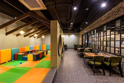 Restaurant, Daycare, Playground, Mat, Cushion