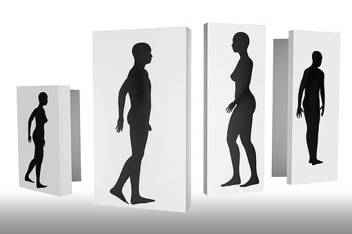 Shadow, Personal, Man, Woman, Naked, Shadow Play