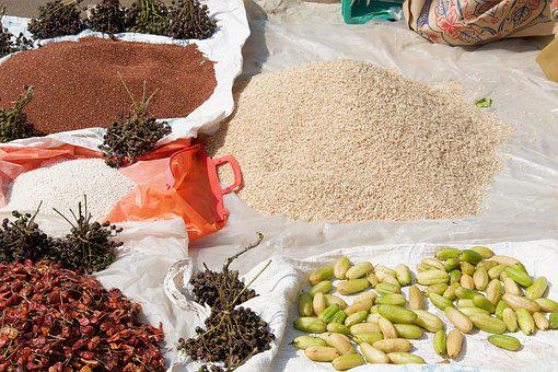 Spices, Curry, India, Market