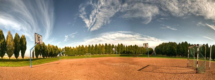 Sport Ground, Panorama, Football, Hand Ball, Basketball