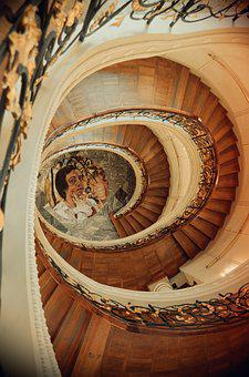 Stairs, Spiral Staircase, Gradually, Emergence
