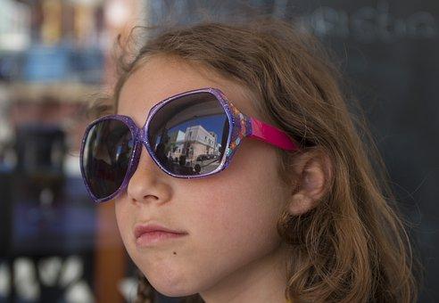 Face, Fashion, Sunglasses, Little Girl, Bimba, Beauty