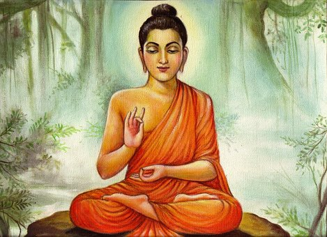 Lord Budha, Teaching Pictures, Painting