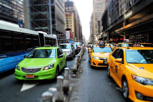 Nyc, Cab, Street, Taxi, New, City, Manhattan, Urban