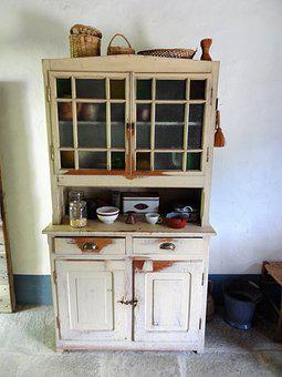 Kitchen Cabinet, Vintage, Old, Used, Nostalgia, Junk
