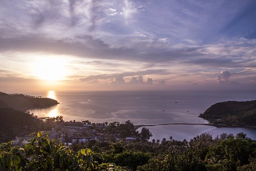 Thailand, Koh Phangan, Koh Ma, Island, View, Sunset