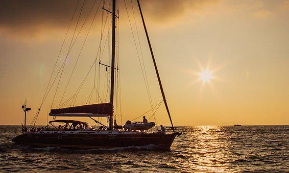 Yacht, Sea, Sun, Vacation, Amur Bay, Vladivostok