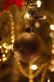 Christmas Tree, Bauble, Holidays
