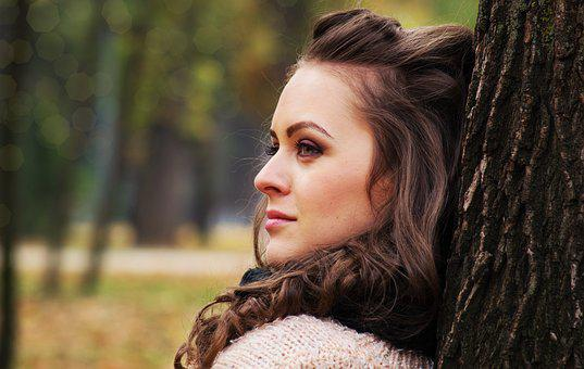 Beautiful Girl Looking Away, Girl Portrait