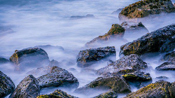 Rock, Slow Motion, Coral, Stone, Blue, Nature, Sea