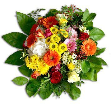 Bouquet, Bound, Colorful, Gerbera, Chrysanthemums