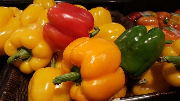 Capsicum, Red Capsicum, Green Capsicum, Vegetables