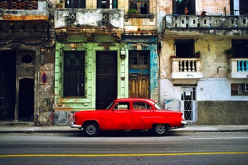 Havana, Cuba, City, Urban, Buildings, Car, Auto