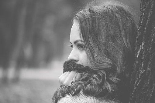 Vintage Portrait, Girl Looking Away