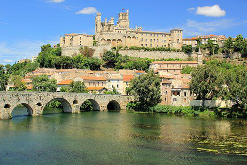 Béziers, France, Bridge, Architecture, Heritage