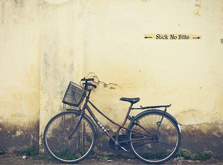 Cycle, Kochi, India, Wall, Travel, Culture, Urban