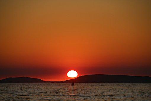 Sea, Sun, Sunset, Beach, America, Nigrán, Pontevedra