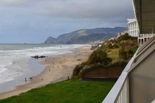 Lincoln City, Oregon, Coast, Ocean, Beach, Sand, Water