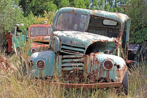 Truck, Rust, Scrap, Garbage, Wreck, Metal, Oldtimer