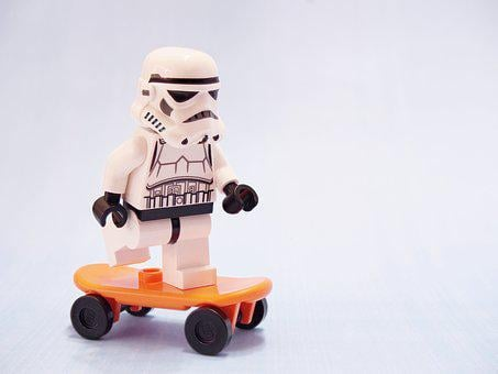 Stormtrooper, Skateboard, Lego, Skating, Star Wars