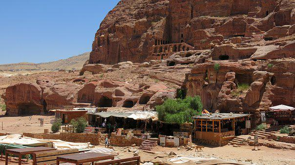 Cafe, Petra, Jordan, Ancient, Arabian, Traditional
