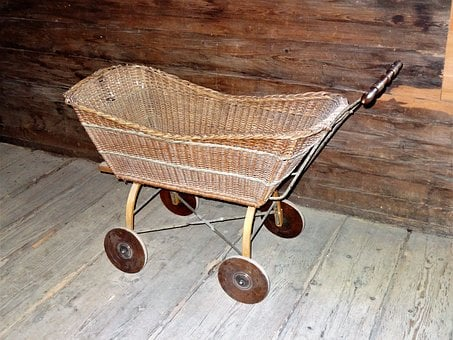 Doll Prams, Baby Carriage, Basket Ware, Woven