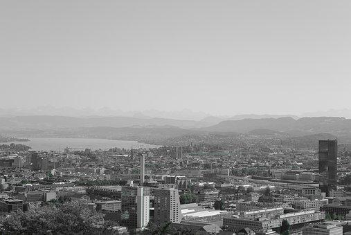Zurich, City, Switzerland, Lake Zurich, Prime Tower