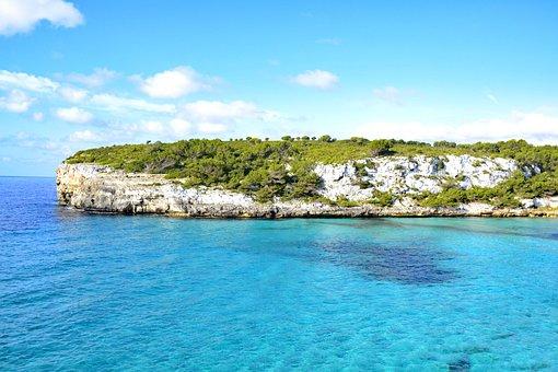 Playa Romantica, Mallorca, Balearic Islands, Spain, Sea