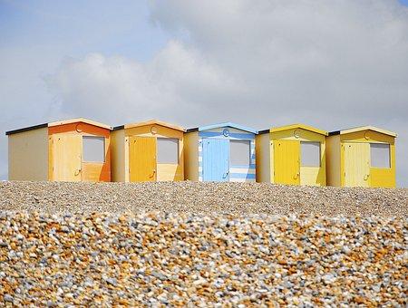 Beach, Beach Hut, Pebbles, Hut, Sand, Summer, Travel