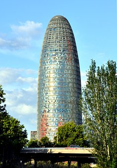 Torre Agbar, Barcelona, Architecture, City, Buildings