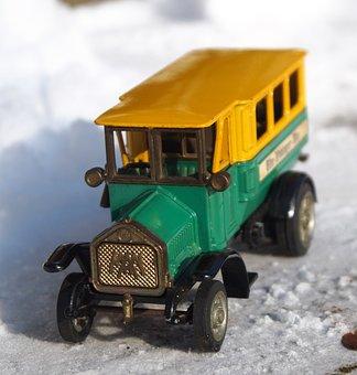 Model Car, Bus, One, Toys, Nostalgia, Vehicle