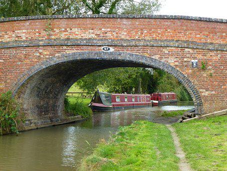 Canal, Boat, Towpath, Water, Reflection, Scenic