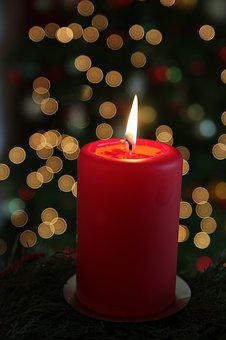 Burn, Burning, Candle, Christmax, Cosy, Light, Red