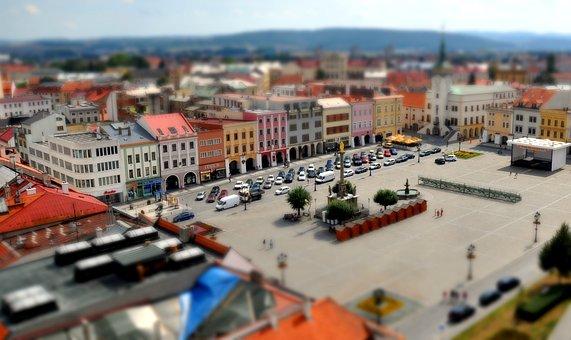 Jicin, City, Mockup, The Illusion, Czech Republic