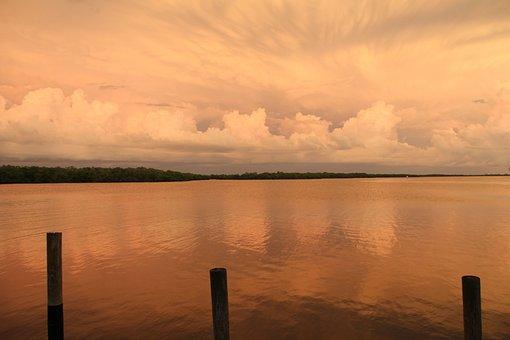 Afterglow, Wolkenspiel, Evening Sky, Abendstimmung