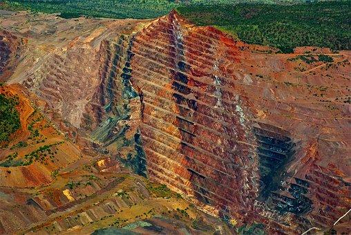 Diamond Mine, Mining, Industry, Excavation, Minerals