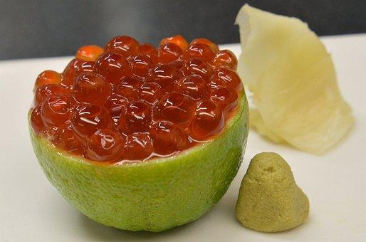 Ikura, Sushi, Salmon Eggs, Japanese Food, Salmon, Japan