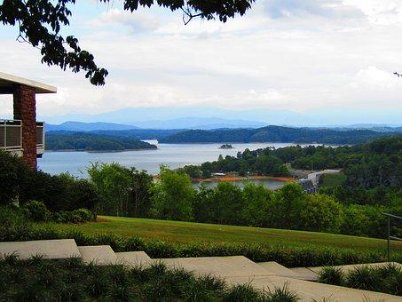 Park, Lake, Picnic, Walkway, Path, Texture