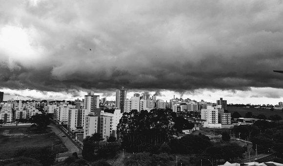 Rain, Storm, Cloud, Sky, Clouds, Landscape, Building