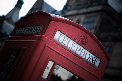 London, Red, Phone Booth, England