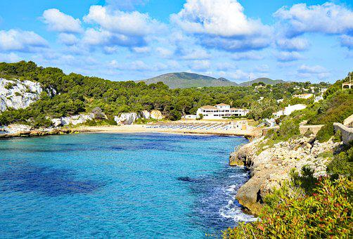 Playa Romantica, Mallorca, Balearic Islands, Spain, Sea