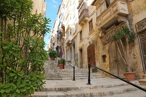 Valetta, Malta, Road, Home, City