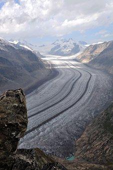 Aletschgletscher, The Glacier, Switzerland, Mountains