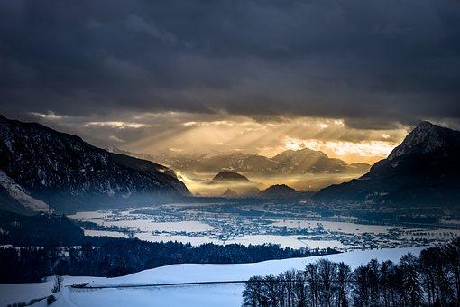 Landscape, Background, Alpine, Nature, Sky, Clouds