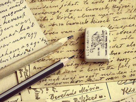 Background, Pencil, Letter, Writing, Paper, Old